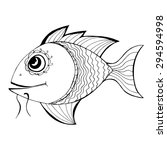 zentangle stylized fish. hand... | Shutterstock .eps vector #294594998
