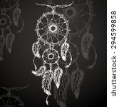 dream catcher  feathers and... | Shutterstock .eps vector #294599858