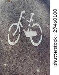 bike sign on the ground | Shutterstock . vector #29460100