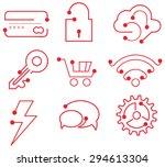 business icon set   e commerce  ... | Shutterstock .eps vector #294613304