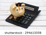 calculating your scholarship  a ... | Shutterstock . vector #294613358