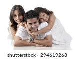 portrait of a family | Shutterstock . vector #294619268