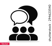 people talking  icon. one of... | Shutterstock .eps vector #294623540