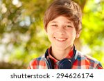 laughing kid boy 14 16 year old ... | Shutterstock . vector #294626174