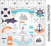 vector collection of decorative ... | Shutterstock .eps vector #294629909