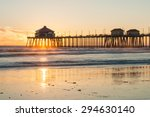 Huntington Beach Pier Sunset Hdr