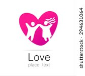 love couple   a sign of the... | Shutterstock .eps vector #294631064