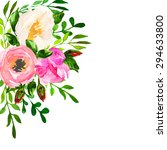 beautiful floral hand drawn... | Shutterstock .eps vector #294633800
