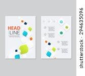 vector brochure template design.... | Shutterstock .eps vector #294635096
