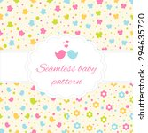set of four seamless baby... | Shutterstock .eps vector #294635720