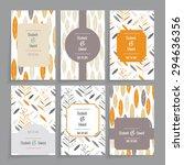 wedding card. floral design in... | Shutterstock .eps vector #294636356