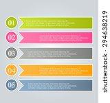 business infographics tabs... | Shutterstock .eps vector #294638219