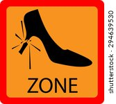 vector warning sign about the... | Shutterstock .eps vector #294639530