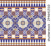gorgeous seamless patchwork... | Shutterstock .eps vector #294641510