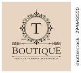 t letter logo  monogram design... | Shutterstock .eps vector #294643550