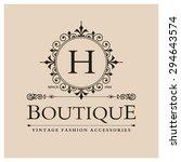 h letter logo  monogram design... | Shutterstock .eps vector #294643574