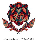 polygonal animal  wildlife... | Shutterstock .eps vector #294651923
