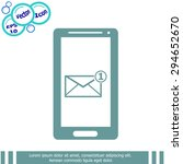 smartphone email icon. mobile...