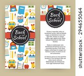 flyer template of back to... | Shutterstock .eps vector #294655064