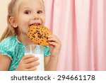 cheerful little girl with... | Shutterstock . vector #294661178