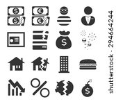 financial crisis icon set