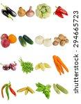 isolate vegetables vitamins... | Shutterstock . vector #294665723
