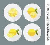 lemon. flat icons. vector. | Shutterstock .eps vector #294667010