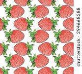 strawberries. seamless pattern...   Shutterstock .eps vector #294668288