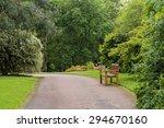 wooden bench in a beautiful park | Shutterstock . vector #294670160