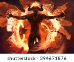Flame Demon. Burning Diabolic...