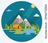 summer  landscape. morning in... | Shutterstock .eps vector #294673004