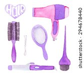 hairstyling set. hand drawn...   Shutterstock .eps vector #294678440