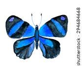 blue watercolor butterfly | Shutterstock .eps vector #294684668