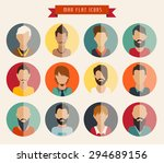 circle of flat icons. man ... | Shutterstock .eps vector #294689156