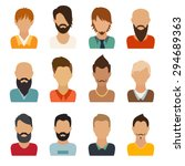 circle of flat icons on white... | Shutterstock .eps vector #294689363