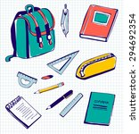 set of vector illustrations of... | Shutterstock .eps vector #294692354