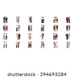 standing together workforce... | Shutterstock . vector #294693284