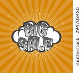 abstract big sale object with... | Shutterstock .eps vector #294703430