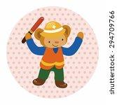 animal monkey worker cartoon... | Shutterstock .eps vector #294709766