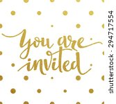 You Are Invited     Gold...