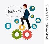 business digital design  vector ... | Shutterstock .eps vector #294725918