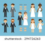 a cute cartoon wedding couple... | Shutterstock .eps vector #294726263