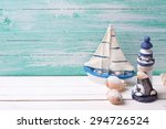 decorative lighthouse   sailing ... | Shutterstock . vector #294726524