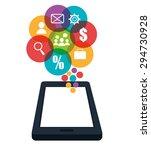 digital marketing design ... | Shutterstock .eps vector #294730928