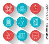 medical digital design  vector...   Shutterstock .eps vector #294732320