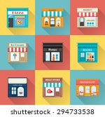 different shops and stores... | Shutterstock . vector #294733538