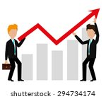 business profit design  vector... | Shutterstock .eps vector #294734174
