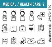 medical   health care. line... | Shutterstock .eps vector #294734570