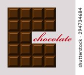 chocolate. design for logo  t... | Shutterstock .eps vector #294734684
