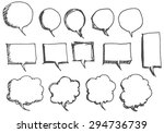 vector collection of hand drawn ... | Shutterstock .eps vector #294736739